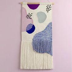 New abstract wall hanging is now in #twillhill Etsy shop ✌️...#wallhanging #walldecor #wallart #walldecoration #handcrafted #tapestry #abstractart #fiber #fiberart #etsy #handmade #textile #wallrug #weaving #handwoven #pastelove #weavingart #weavingtapestry
