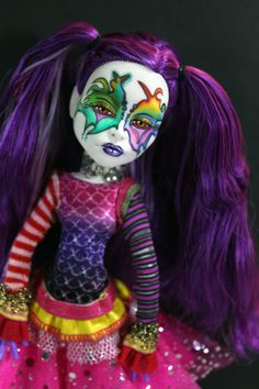 OOAK Art Doll Monster High Spectra Vondergeist Repaint by Refabrications