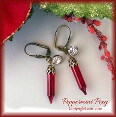 Christmas earrings recycled mini lights by PeppermintPixy on Etsy, $12.00- love this! Might have to try to make my own.