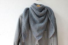 Chèche homme - tweed bleu jean - by Fleur de laine : Echarpes par fleur-de-laine