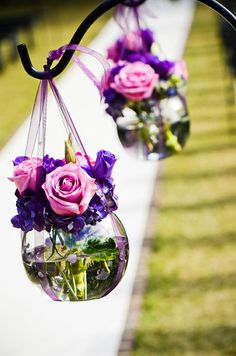 Ceremony aisle markers, Hilton Head Wedding Flowers, wedding floral designer.