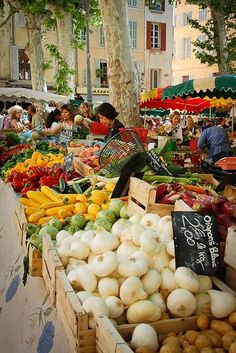 Aix-en-Provence market. Love the colors. ASPEN CREEK TRAVEL - karen@aspencreektravel.com