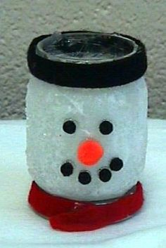 Learn How to Make a Candle Holder That Looks Like a Snowman - Submitted by Loni Schultz