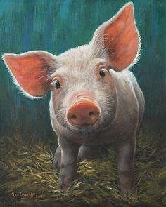 Animal Paintings, Animal Drawings, Farm Animals, Cute Animals, Cute Piglets, Pig Crafts, Pig Art, Baby Pigs, Watercolor Animals