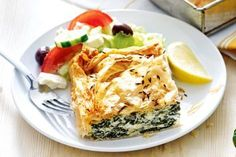 For something the whole family will love, serve up this classic Greek pastry dish, made with silverbeet, cheese and flaky filo pastry. Spanakopita Recipe, Pastry Dishes, 10 Minute Meals, Greek Pastries, Filo Pastry, Pastry Chef, Coconut Slice, Condensed Milk Recipes, Chocolate Slice