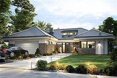 Gotowe projekty domów - gwarancja najniższej ceny - EXTRADOM My House Plans, Modern Bungalow, Roof Tiles, Home Fashion, Building A House, Villa, 1, Exterior, House Design
