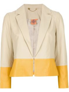 Tory Burch Bi-Colour Leather Blazer