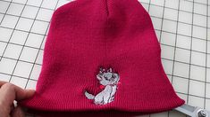 Custom Embroidered Ski Hat Embroidery Thread, Machine Embroidery, Embroidery Designs, Cat Design, Design Show, Sewing Essentials, Brother Embroidery, Disney Designs, Hat Crafts