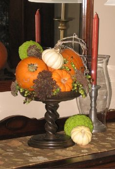 decor ideas with hedge apples   Don't forget the hedge apples this fall!