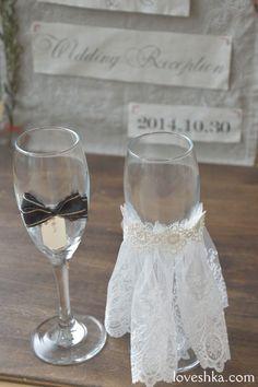 雑誌等の手づくり企画のために作ったオリジナルウェディングアイテム / lei wedding / ウェルカムオブジェ / グラス / wedding / オリジナルウェディング / プティラブーシュカ / トキメクウェディング
