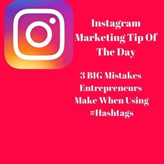 Hello Instagram Entrepreneur Family.  This week I really want to focus on providing value about Hashtags.  These are incredibly powerful but many entrepreneurs are making huge mistakes in how they are using them.  Later on this week I am going to cover some best tips secrets and hints on using them.  Today I want to talk about 3 big mistakes I see entrepreneurs make when using hashtags.  1. Not using them.  Too many do not know how to use them so they simply do NOT use them.  That is a huge…