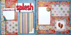 scrapebook layouts for dance | Scrapbook Layout Summer Beach Pool Water 2 Page by upinthenight