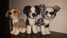 Ravelry: Aussie Amigurumi Puppy pattern by Henriëtte Doornwaard Aussie Puppies, Little Puppies, Crochet Horse, Crochet Animals, Aussie Shepherd, Australian Shepherd, Crochet Patterns Amigurumi, Knit Patterns, Dog Crafts