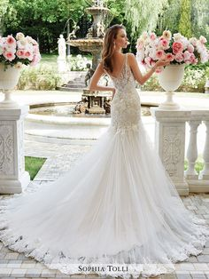 Sophia Tolli - Rome - Y21665 - All Dressed Up, Bridal Gown - Mon Cheri - Chattanooga TN's All Dressed Up Bridal Shop / Bridal Boutique offers Wedding Gowns, Prom Dresses & Tuxedo Rentals