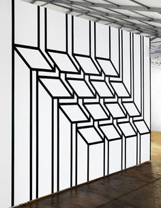 Optical illusion feature wall