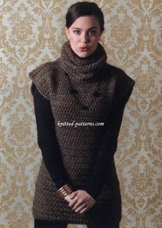 Darla Tunic by Melissa Leapman - free crochet pattern in sizes: S (M, L, 1X, 2X) at knitted-patterns.com. Hdc throughout, 8mm hook.