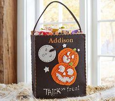 Pumpkin Felt Tote