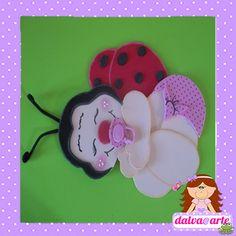 ARTE COM QUIANE - Paps,Moldes,E.V.A,Feltro,Costuras,Fofuchas 3D: Molde Joaninha Baby
