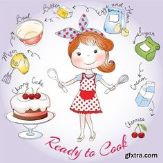Beautiful girl set# 12 - 24 Eps Cherry Cake, Hello Kitty, Beautiful, Design, Sweets