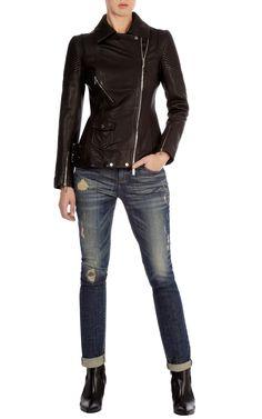 leather jackets for women | Long line leather jacket | Luxury Women's shop_all | Karen Millen