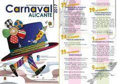 Programa #Carnaval 2017 #Alicante #CostaBlanca #AlicanteCity