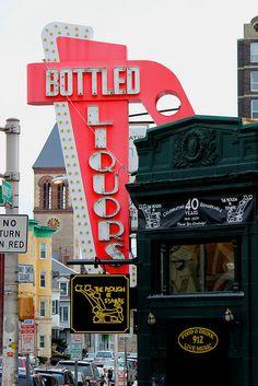 """Bottled Liquors""   DiscoverCentralSquare.com"