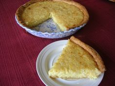 Southern Cooking - Easy Coconut Custard Pie