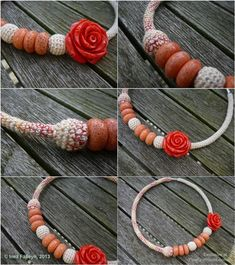 :: STUNNING Necklace GIVEAWAY :: #crochet #jewelry. Put your name in the hat now!