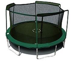 15' Round Trampoline Net Using 3 Arches