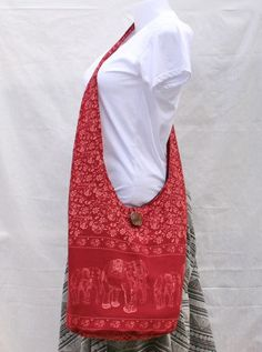 Thai Elephant Red Vintage Messenger Bags Hippie Hobo Bags Boho Bags Shoulder Bags Sling Bags Crossbody Bags Large on Etsy, $9.00