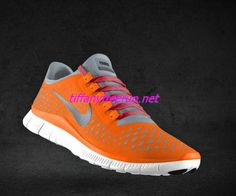 Womens Nike Free 3.0 V4 Total Orange Reflective Silver Pro Platinum Sport Red Lace Shoes