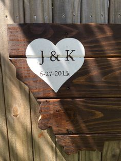 Wood pallet wedding Guest book Alternative sign- montana wedding decor- pallet handmade event Guest book- montana state wedding sign