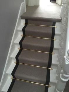 Carpet stair runners ideas stair runner rod stair rod best carpet stair runners ideas on hallway rod iron stair railing staircase carpet runners ideas Stair Runner Rods, Staircase Carpet Runner, Iron Stair Railing, Stair Rods, Staircase With Runner, Carpet Stair Runners, Staircase Landing, Banisters, Best Carpet For Stairs