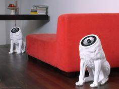 Woofers Speakers by Sander Mulder #Art, #Cool, #Design, #Dog, #Indoor, #Speaker