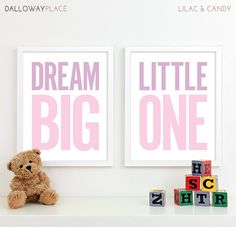 Baby Nursery Decor, Kids Wall Art, Girls Decor, Girl Baby Shower Gift for Baby Girl Shower Gift - Two 11x14