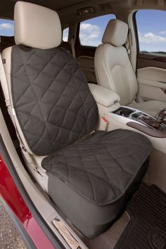 Protect the front seat of your car from your pet's mess with pet car seat covers. Our waterproof car seat covers mesh with your car's interior. Waterproof Car Seat Covers, Diy Seat Covers, Bucket Seat Covers, Bucket Seats, Car Covers, Pet Car Seat, Car Seats, Dog Car Accessories, Hamster