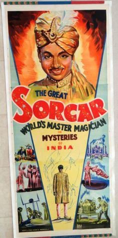 Magic Poster Sorcar, The Great Indian Magician