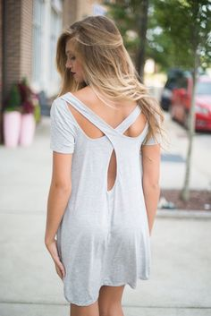 Looped t shirt dress #swoonboutique