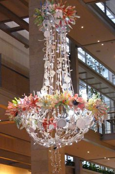 Showgirl, another Magpie chandelier. I love all the white in this one, shows off the colours of the flowers
