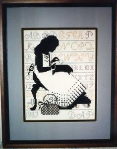 Seamstress in Counted Cross Stitch - 1987