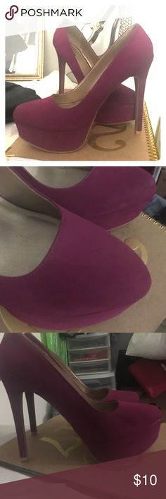 Maroon platform heels I am selling these super cute maroon/magenta platforms from Charlotte Russe. Good condition. Hardly wore them Charlotte Russe Shoes Platforms