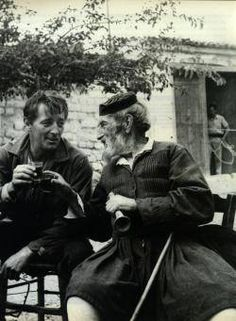 Summer of 1959 ~ Robert Mitchum with a Greek friend in Arachova