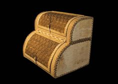 Large two-tier breadbox Handmade bread bin Vintage bread basket  More amazing breadboxes are here:  https://www.etsy.com/shop/SiberianBirchBark?ref=hdr&section_id=17028773
