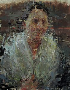 """""""Self-Portrait with Collar,"""" Ann Gale, oil on Masonite, 14 x Dolby Chadwick Gallery © Ann Gale. Portrait Art, Portrait Paintings, Art Paintings, Art Station, Figure Painting, Contemporary Paintings, Artist Art, Art World, Traditional Art"""