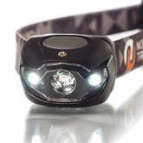 LED Headlamp By Northbound Train - The Best Headlamp for Camping, Running, or Home Use - Bright 70 Lumen White Light with Dimmer, Red, and Strobe Settings - Lightweight & Durable with Long Battery Life (3 AAA Energizers Included) - Lifetime