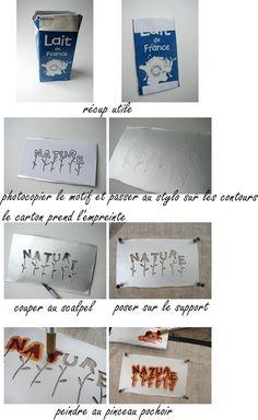 pochoir maison - Happiness le blog by Gédane  Chouette idée je vais essayer Merci ;)