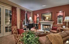 Combination Living Room & DIning Room.  Staged from top to bottom by our team. Fullerton, Ca. #orangecounty