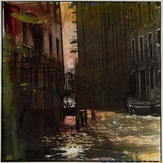 Elis Hoymann, Venedig, Übermalung 7, Fotografie mit der analogen Mittelformatkamera, schwarz/weiß, vergrößert auf Baryt-Papier und übermalt mit Acryl, 18 x 18 cm, 2001 / 2012, 340 €