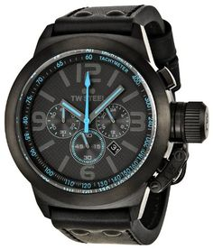 0a67521fdcf Men s Wrist Watches - TW Steel Canteen Chronograph Black Dial Leather Mens  Watch TW904R   Want