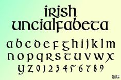 Celtic typefaces are associated with the Celt people that inhabited Ireland, Scotland and Britain. Celtic fonts have a medieval or mystical look. Irish Font, Celtic Fonts, Drawing, Crafts, Font Downloads, Manualidades, Sketch, Craft, Crafting